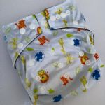 Baby Bum Boutique Basics - Zoo friends - Bamboo charcoal nappies